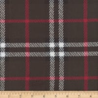 Plush Fleece Plaid Charcoal