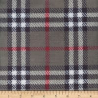 Plush Fleece Plaid Grey