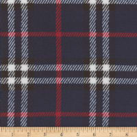 Plush Fleece Plaid Navy