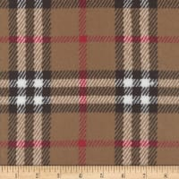 Plush Fleece Plaid Tan