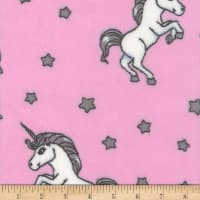 Plush Fleece Unicorn 01 Pink/Grey