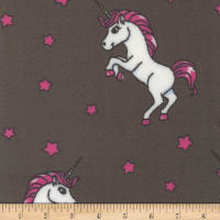 Plush Fleece Unicorn Grey