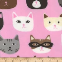 Plush Fleece Cats Pink