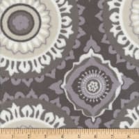 Plush Fleece Circles Grey