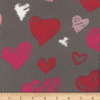 Plush Fleece Heart Grey