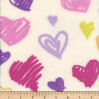 Plush Fleece Heart White