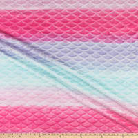 Fleece Flannel Mermaid Ombre Multi
