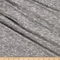 Brushed Sweater Knit Black/Heather Grey