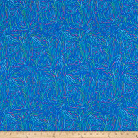 Art Gallery Playful Seaweed Nightglow Rayon Challis Blue