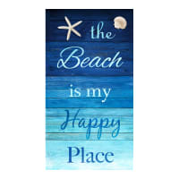 "Timeless Treasures Beach Is My Happy Place 24"" Panel Turquoise"