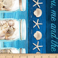 Timeless Treasures Beach Is My Happy Place Stripe Blue