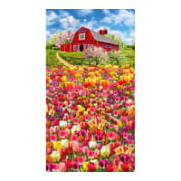 "Timeless Treasures Tulip Farm 24"" Panel Multi"