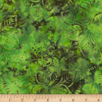 Timeless Treasures Tonga Batik Mandarin Grove Hibiscus Spearmint