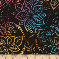 Timeless Treasures Tonga Batik Mandarin Grove Hibiscus Midnight