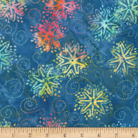 Timeless Treasures Tonga Batik Mandarin Grove Pinwheel Sail