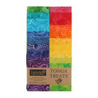 "Timeless Treasures Tonga Batik Treat 2.5"" Strip Pack Vivid"