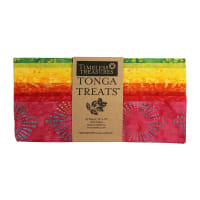 "Timeless Treasures Tonga Batik Treat 10"" Square Pack Vivid"