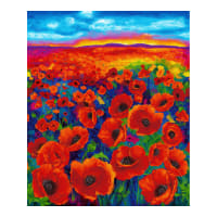 "Timeless Treasures Digital I Dream Of Poppy 36"" Panel Bright"