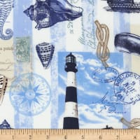 Timeless Treasures Nautical Mile Nautical Postcard Neutral
