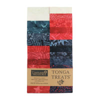 "Timeless Treasures Tonga Batik Treat 2.5"" Strip Pack Patriot"