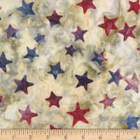 Timeless Treasures Tonga Batik Patriot Border Stars USA
