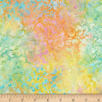 "Timeless Treasures 106"" Batik Wide Back Hawaiian Buttercream"
