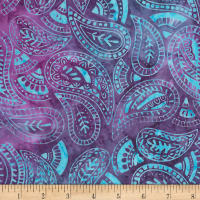 "Timeless Treasures 106"" Batik Wide Back Folksy Paisley Magic"