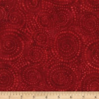 "Timeless Treasures 106"" Batik Wide Back Burst Red"
