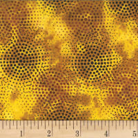 Hoffman Bali Batik Radiating Dots Gold Ochre