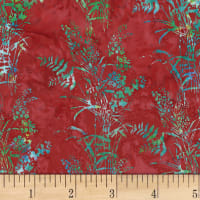 Hoffman Bali Batik Bouquet Red