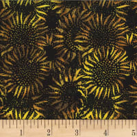 Hoffman Bali Batik Sunflower Bumble Bee