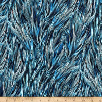 Hoffman Digital Proud As A Peacock Packed Feathers Royal