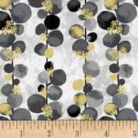 Hoffman Metallic Mixed Metals Bloom Dot Vine Warm Gray/Gold