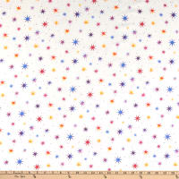 Northcott Cosmic Universe Multi Color Stars White/Purple