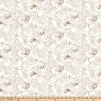 Northcott White Sands Digital Shells Neutral