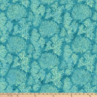 Northcott White Sands Digital Coral Teal