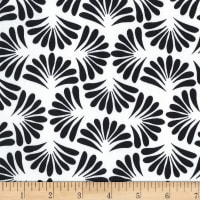 Northcott Banyan Classics Black Fan White