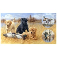 "Northcott Faithful Friends Digital Hunting Dog 23"" Panel"