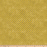 Northcott Spot On Mini Polka Dot Mustard