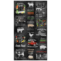 "Northcott Farm To Table 24"" Block Panel Black/Multi"