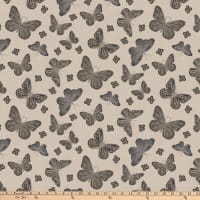Northcott Dolce Vita Butterflies Light Taupe