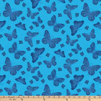 Northcott Dolce Vita Butterflies Light Blue/Multi