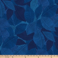 Northcott Dolce Vita Large Leaves Indigo