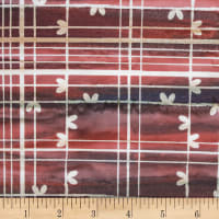 Northcott Banyan Batik All About Plaid Brick