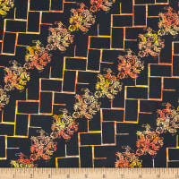 Northcott Banyan Batik Tropical Fusion Black At Sunset