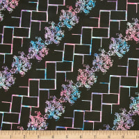Northcott Banyan Batik Tropical Fusion Black And Berry