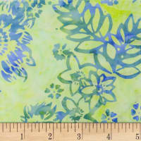Northcott Banyan Batik Boho Beach Lime Green/Blue