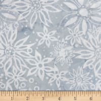 Northcott Banyan Batik Boho Beach Flowers Grey