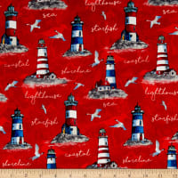 Northcott Atlantic Shore Light House Red