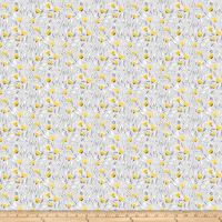 Northcott Sew Sweet Packed Floral Gray/Yellow